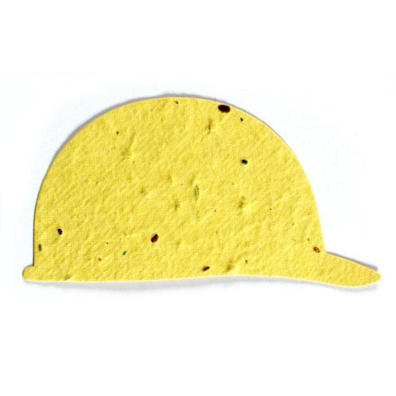 Seed Paper Shape Hard Hat - Yellow