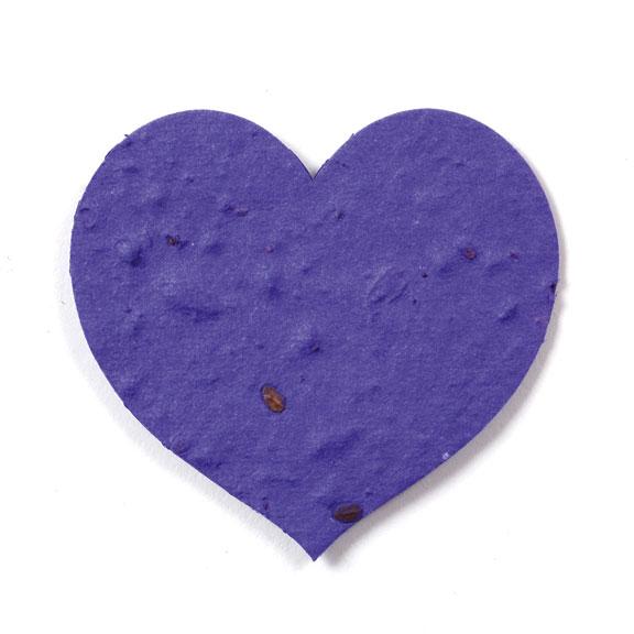 Seed Paper Shape Heart 4 - Violet