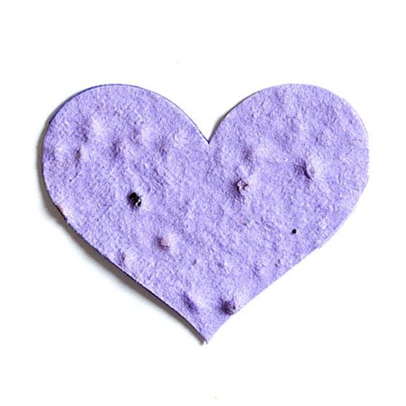 Seed Paper Shape Heart 5 - Lavender