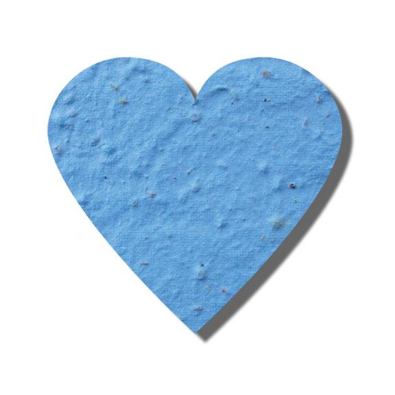 Seed Paper Shape Heart 6 - Light Blue