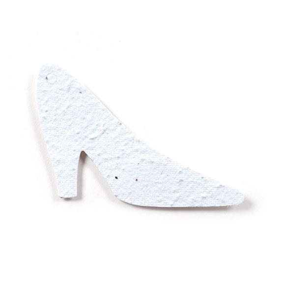 Seed Paper Shape High Heel - White