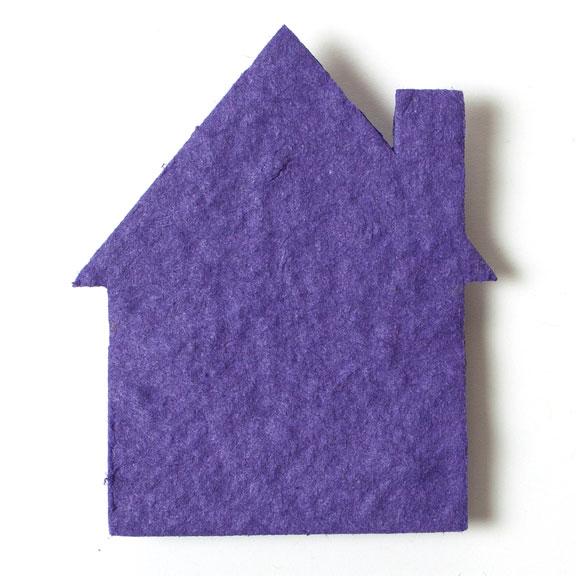 Seed Paper Shape House 1 - Violet