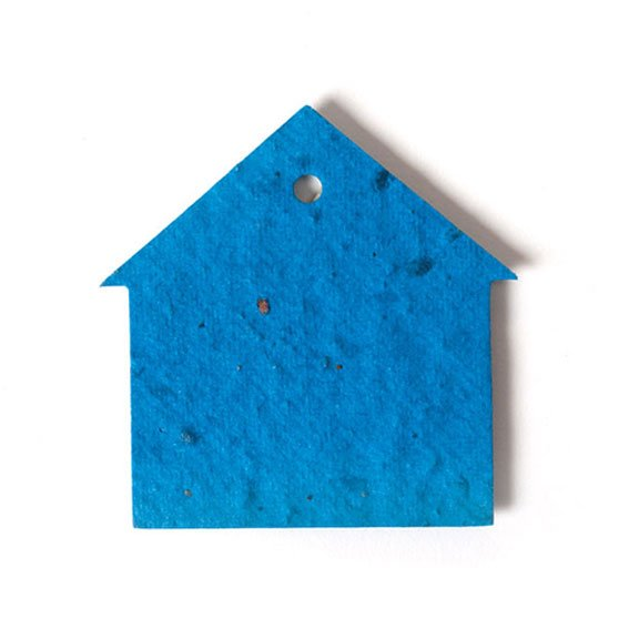 Seed Paper Shape House 2 - Royal Blue