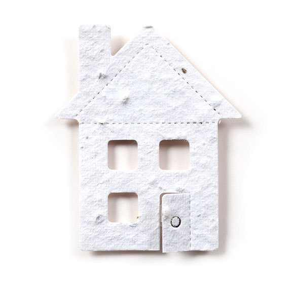 Seed Paper Shape House 4 - White