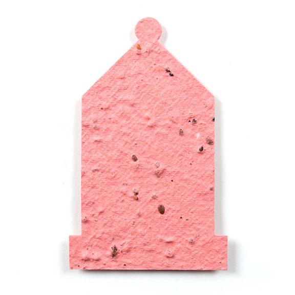 Seed Paper Shape Lantern - Pink