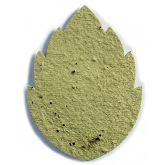 Seed Paper Shape Large Leaf 1 - Chartreuse
