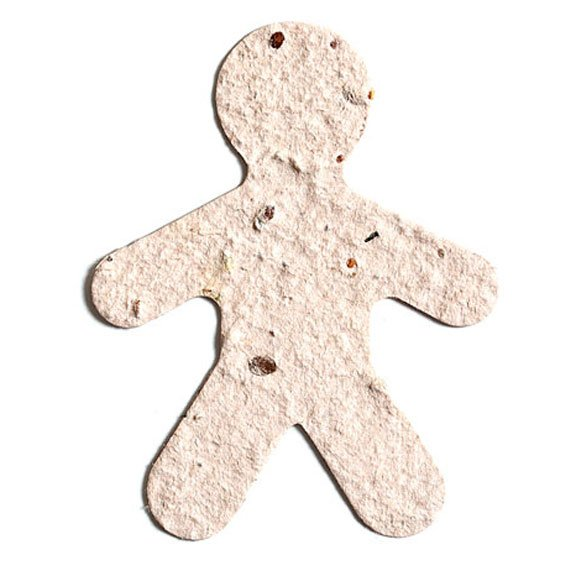 Seed Paper Shape Person - White