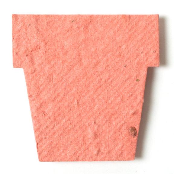 Seed Paper Shape Pot 1 - Terra Cotta Pink