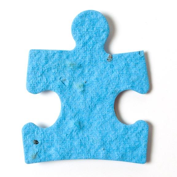 Seed Paper Shape Puzzle Piece - Light Blue
