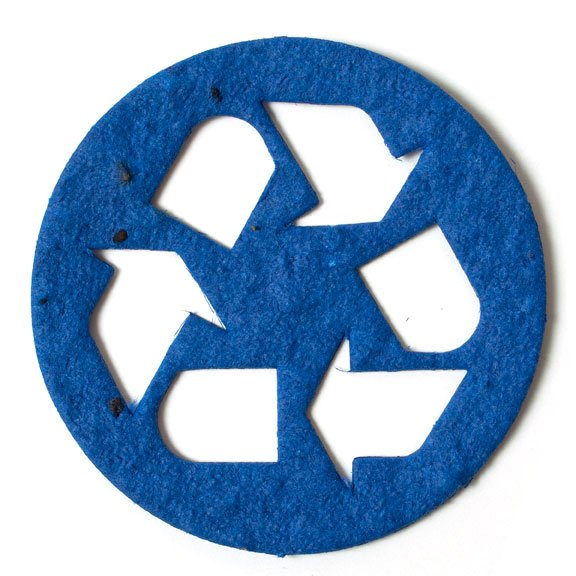 Seed Paper Shape Recycle Symbol - Royal Blue