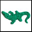 Seed Paper Shape Alligator - Forest Green