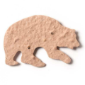 Seed Paper Shape Bear 2 - Natural Brown