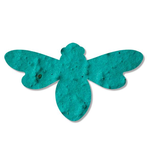 Seed Paper Shape Bee 2 - Teal Blue