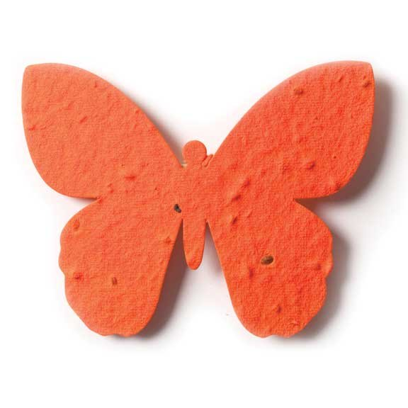 Seed Paper Shape Butterfly 2 - Cranberry Red