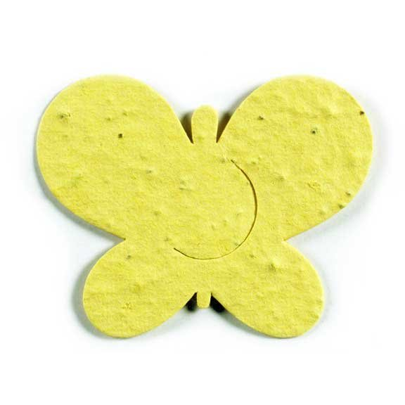 Seed Paper Shape Butterfly 1 - Yellow