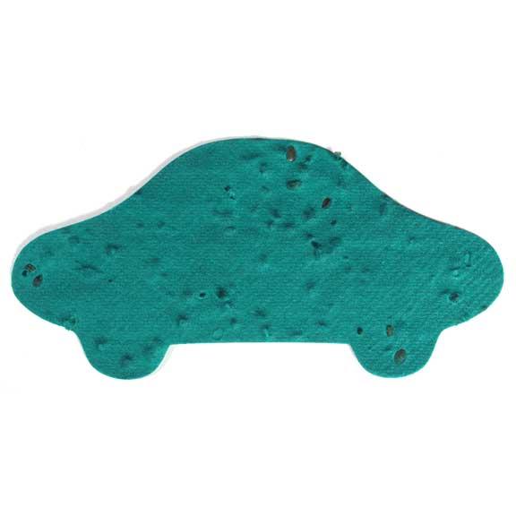 Seed Paper Shape Car 1 - Sage Green