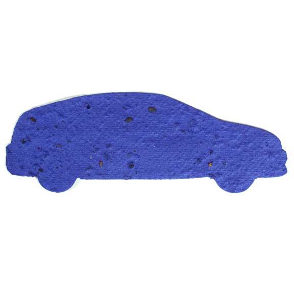 Seed Paper Shape Car 2 - Royal Blue