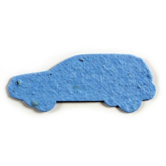 Seed Paper Shape Car 3 - Light Blue