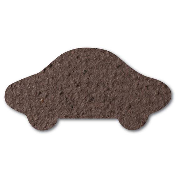 Seed Paper Shape Car 9 - Coffee Brown