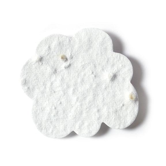 Seed Paper Shape Cloud - White