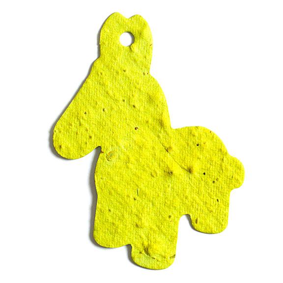 Seed Paper Shape Donkey - Yellow