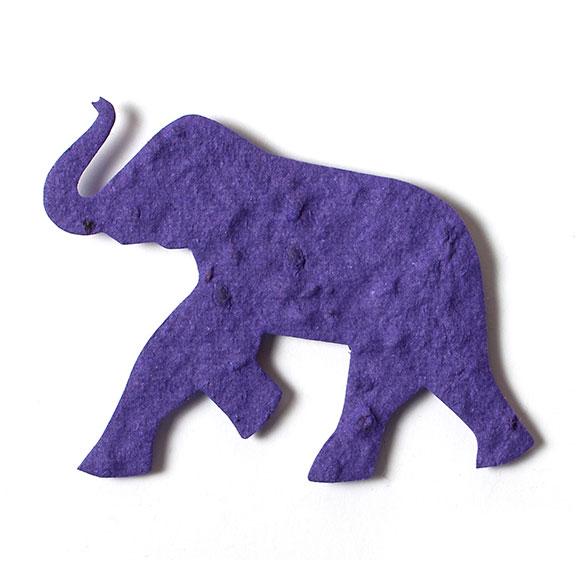Seed Paper Shape Elephant - Violet