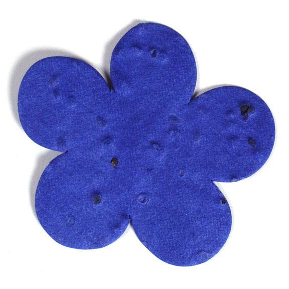 Seed Paper Shape Flower 1 - Royal Blue