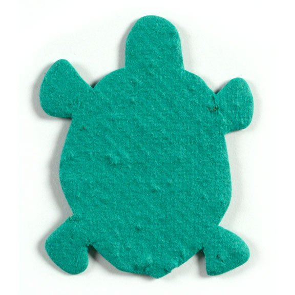 Seed Paper Shape Turtle - Forest Green