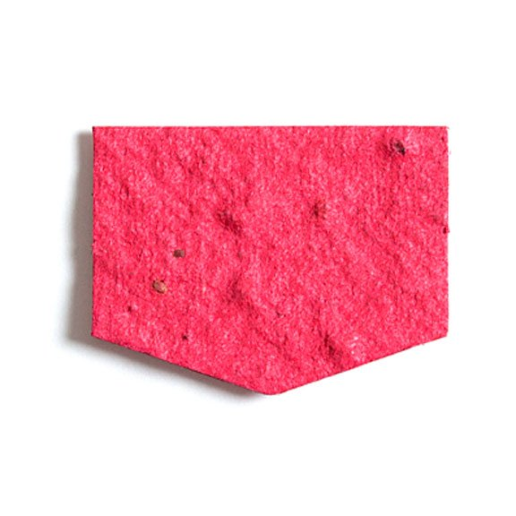 Seed Paper Shape Shield - Cranberry Red
