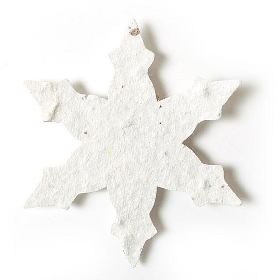 Seed Paper Shape Snowflake 3 - White