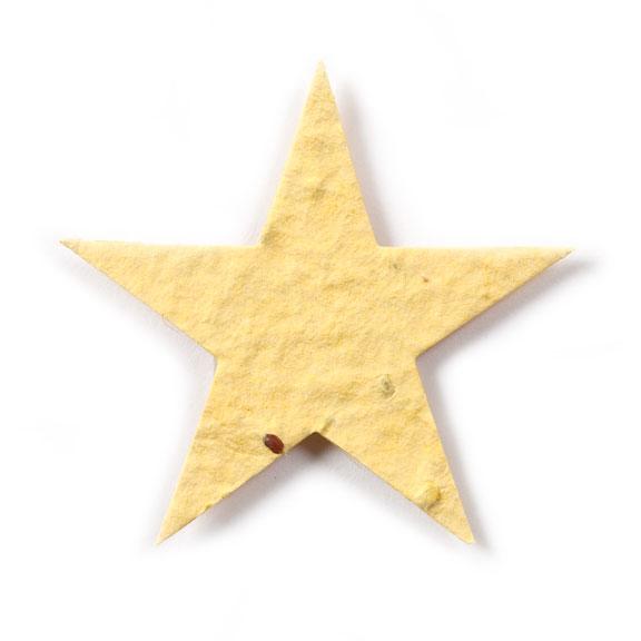 Seed Paper Shape Star 1 - Light Yellow