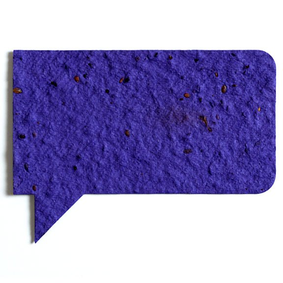Seed Paper Shape Talk Bubble 1 - Violet