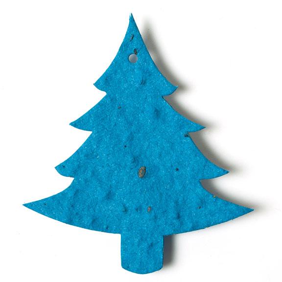 Seed Paper Shape Tree 7 - Teal Blue