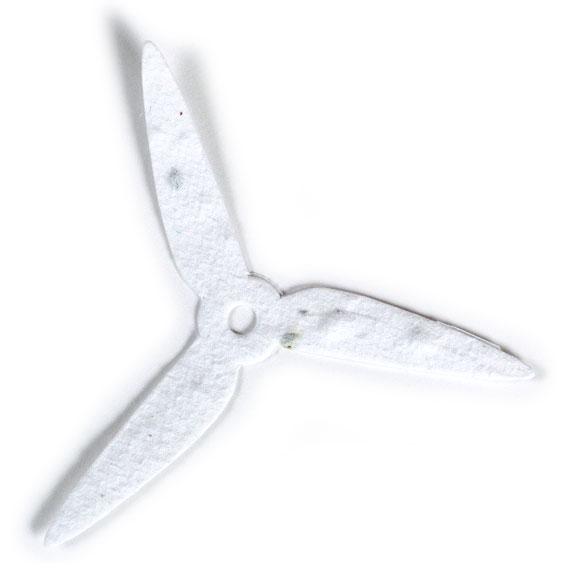 Seed Paper Shape Turbine 1 - White