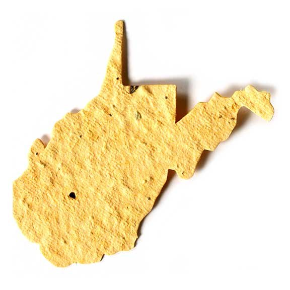 Seed Paper Shape West Virginia - Pale Yellow