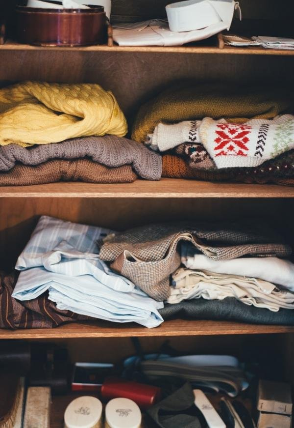 Closet Organization With Reusable and Recycled Custom Bags