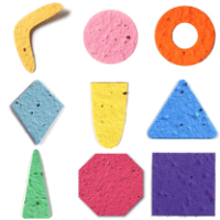 Seed paper shapes geometry basic die cuts