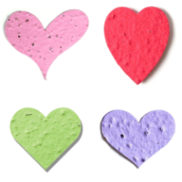 Die cut heart-shaped plantable seed paper