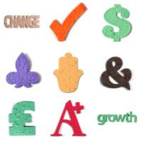 Seed paper shapes die cut symbols & words
