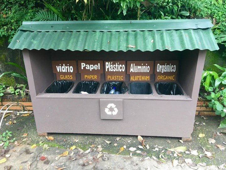 Eco-Friendly Travel with Recycling Units and Compost in Monteverde Costa Rica
