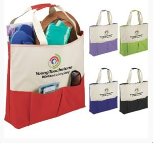Use promotional utility reusable trade show bags to promote your brand.