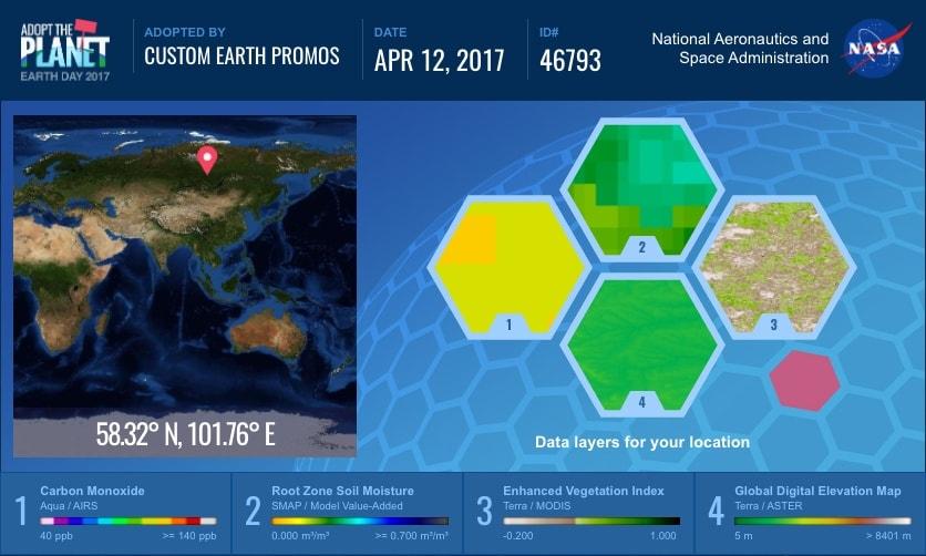 NASA adopt a piece of Earth