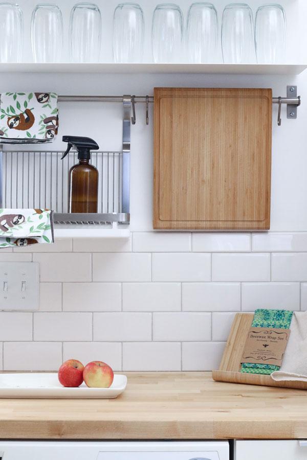 modern kitchen featuring beeswax wrap set