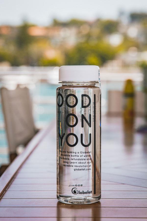 portable glass water bottle eco-friendly