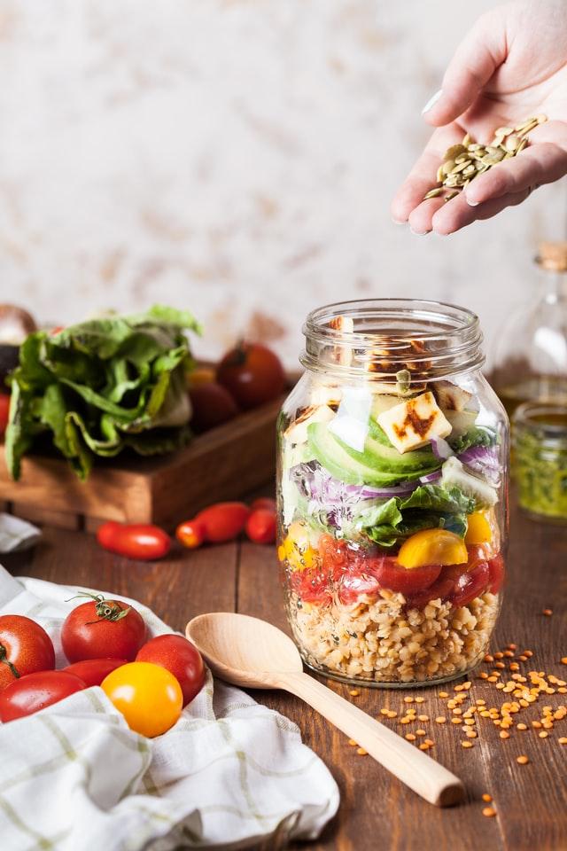 Person preparing a healthy breakfast