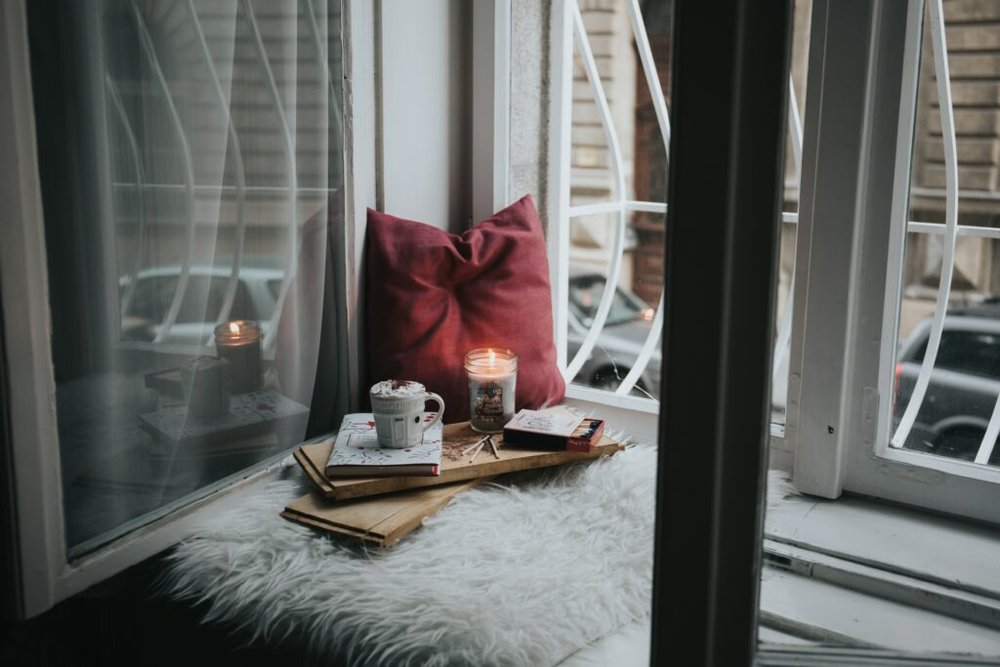 Relaxing at home - self-care